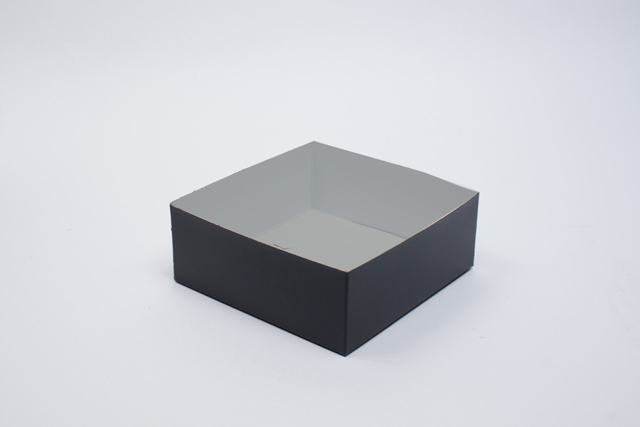 8 x 8 x 3 BLACK SWIRL HI-WALL GIFT BOX BASES *LIDS SOLD SEPARATELY*