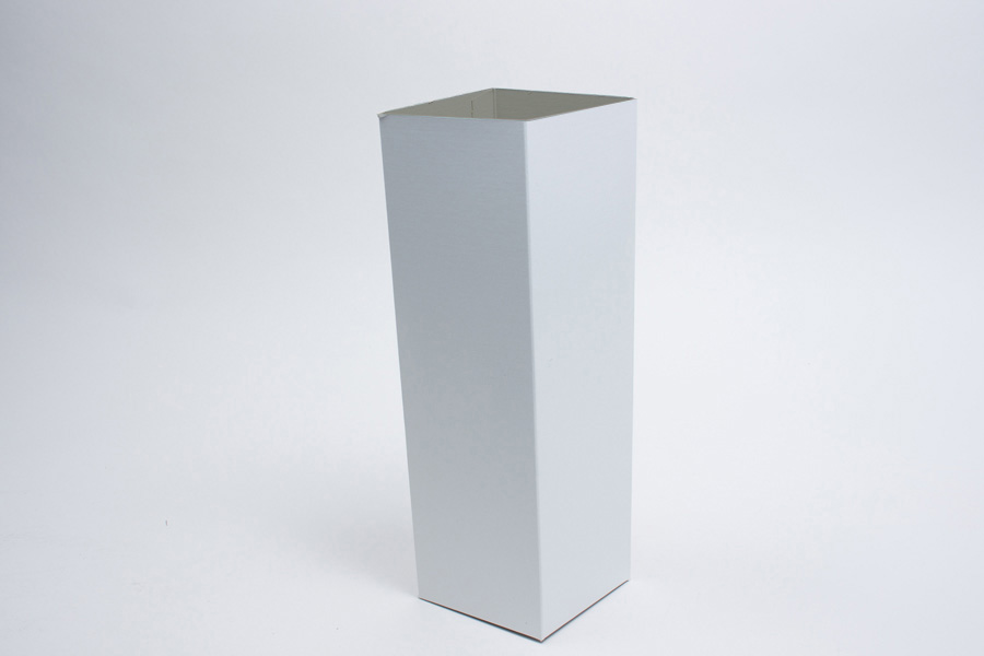 4 x 4 x 12 WHITE GLOSS HI-WALL GIFT BOX BASES *LIDS SOLD SEPARATELY*