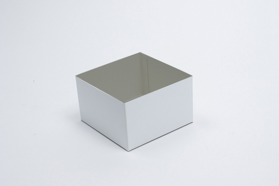 6 x 6 x 3 WHITE GLOSS HI-WALL GIFT BOX BASES *LIDS SOLD SEPARATELY*