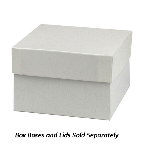 5 x 5 x 3 WHITE GLOSS HI-WALL GIFT BOX BASES *LIDS SOLD SEPARATELY*