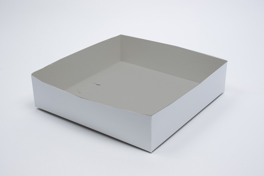 8 x 8 x 6 WHITE GLOSS HI-WALL GIFT BOX BASES *LIDS SOLD SEPARATELY*