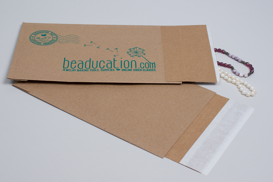 Custom printed paper shipping bags - Beadification