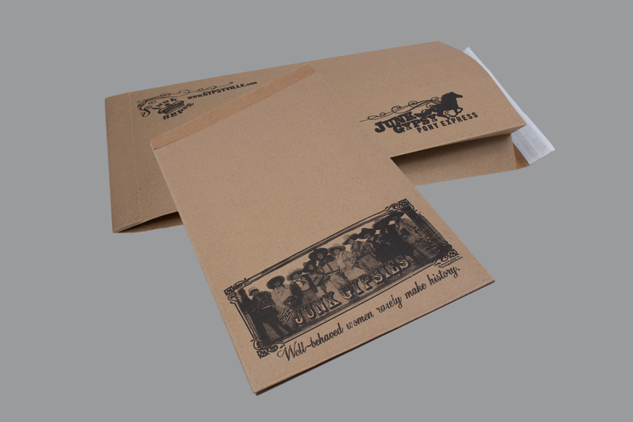 Custom printed paper shipping bags - Junk Gypsy