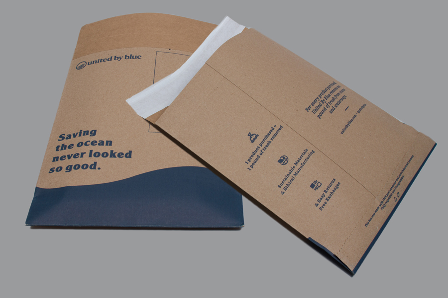 Custom printed paper shipping bags - United by Blue