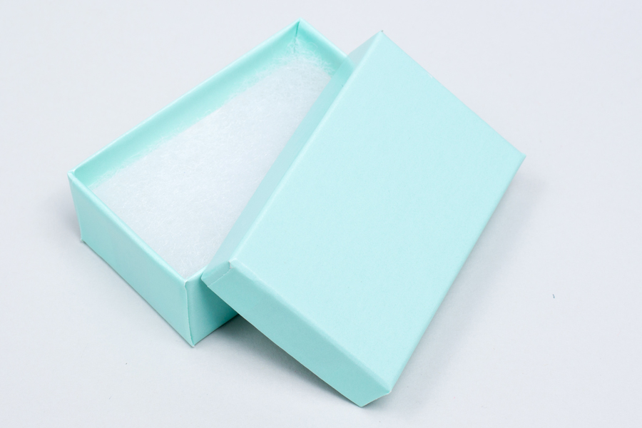 (#21) 2-1/2 X 1-1/2 X 7/8 BLUE ICE GLOSS JEWELRY BOXES