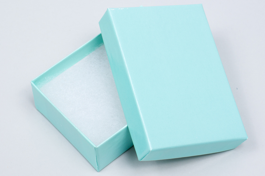 (#32) 3-1/16 X 2-1/8 X 1 BLUE ICE GLOSS JEWELRY BOXES
