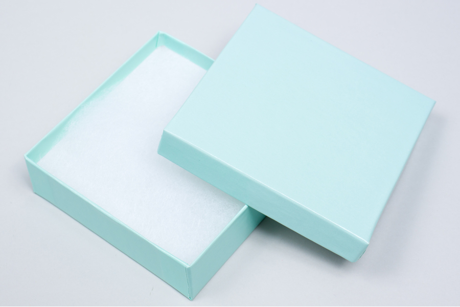 (#33) 3-1/2 X 3-1/2 X 1 BLUE ICE GLOSS JEWELRY BOXES