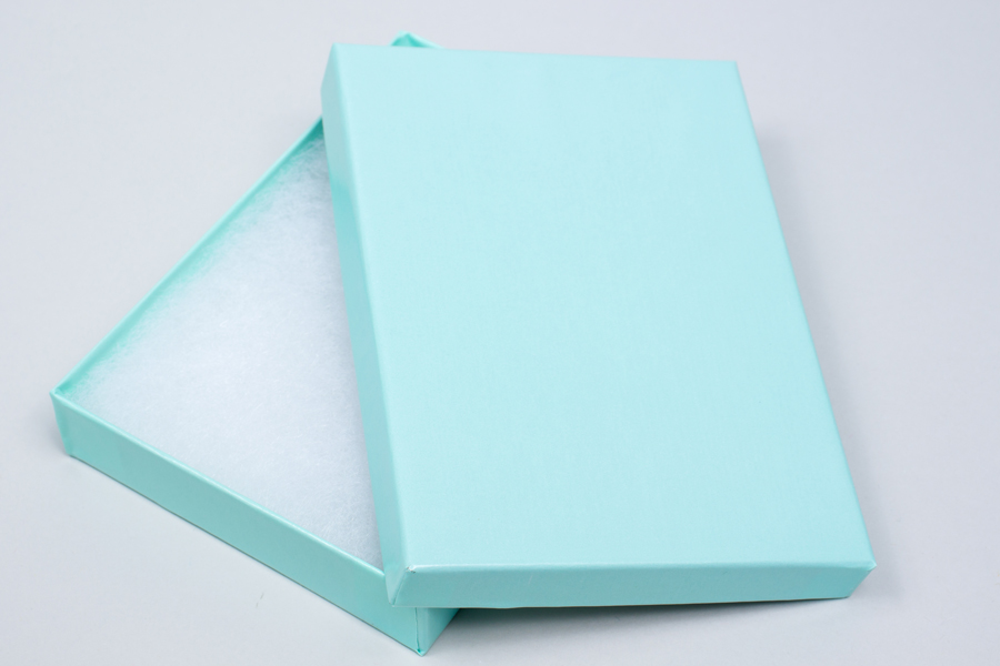 (#53) 5-1/4 X 3-3/4 X 7/8 BLUE ICE GLOSS JEWELRY BOXES