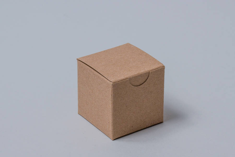 2 x 2 x 2 SOLID NATURAL KRAFT TUCK-TOP GIFT BOXES
