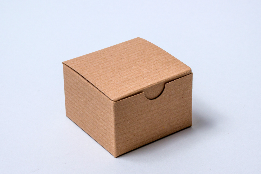 3 x 3 x 2 NATURAL KRAFT PINSTRIPE TUCK-TOP GIFT BOXES