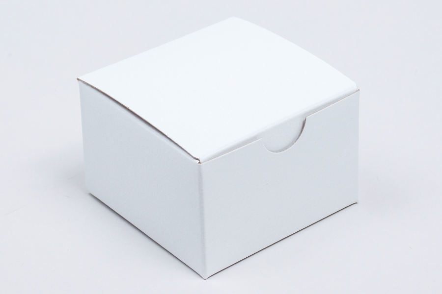 3 x 3 x 2 WHITE GLOSS TUCK-TOP GIFT BOXES