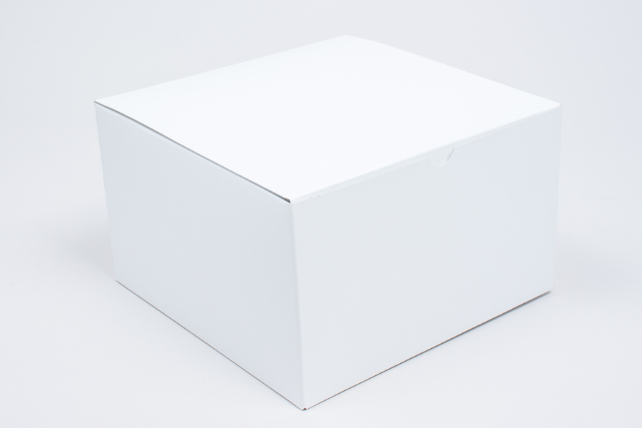 9 x 9 x 5.5 WHITE GLOSS TUCK-TOP GIFT BOXES