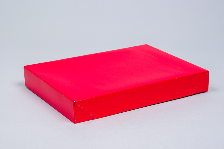 11.5 x 8.5 x 1.6 RED GLOSS APPAREL BOX