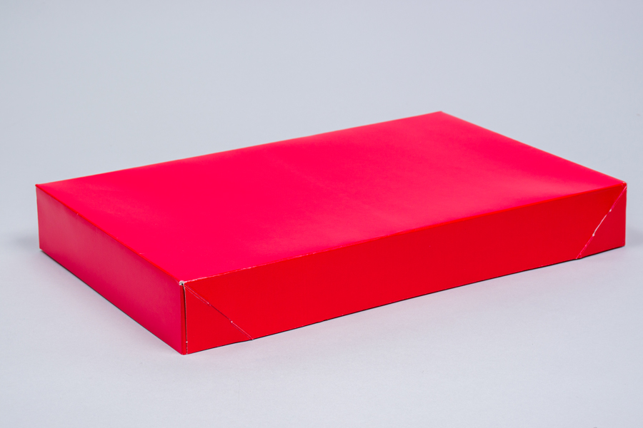 15 x 9.5 x 2 RED GLOSS APPAREL BOX