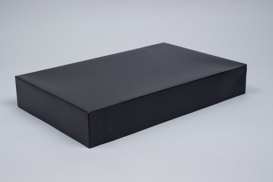 19 x 12 x 3 BLACK GLOSS APPAREL BOX