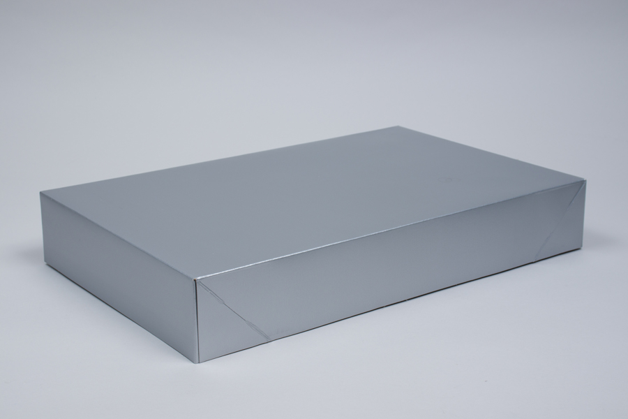 19 x 12 x 3 SILVER GLOSS APPAREL BOX