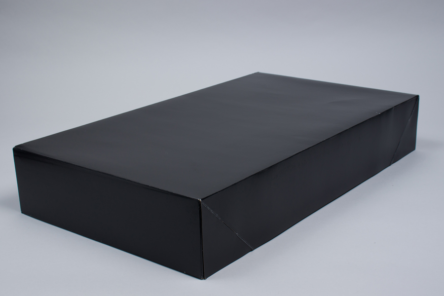 24 x 14 x 4 BLACK GLOSS APPAREL BOX