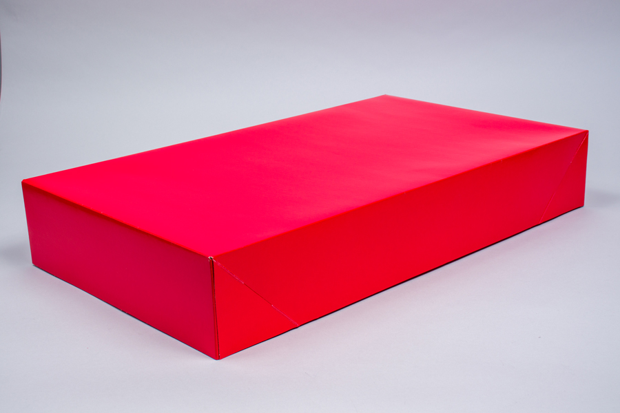 24 x 14 x 4 RED GLOSS APPAREL BOX