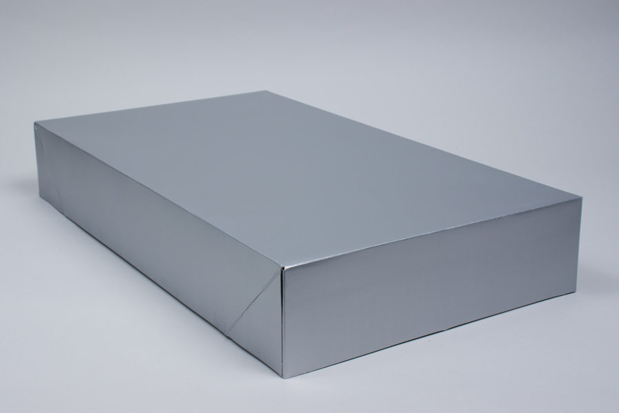 24 x 14 x 4 SILVER GLOSS APPAREL BOX