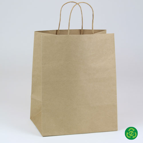 10 x 7 x 12 ECONOMY NATURAL KRAFT PAPER SHOPPING BAGS