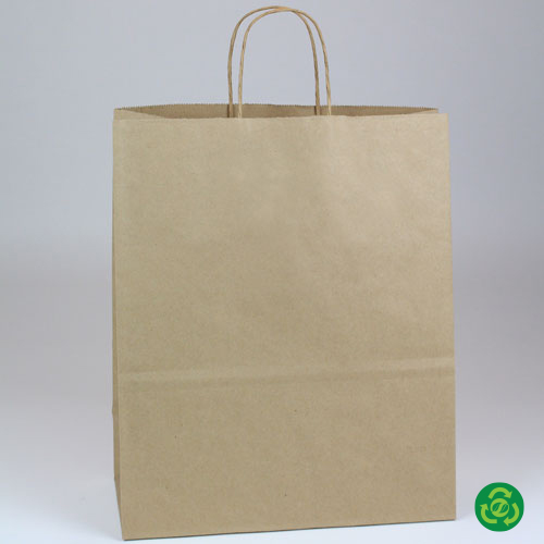 13 x 7 x 13 ECONOMY NATURAL KRAFT PAPER SHOPPING BAGS