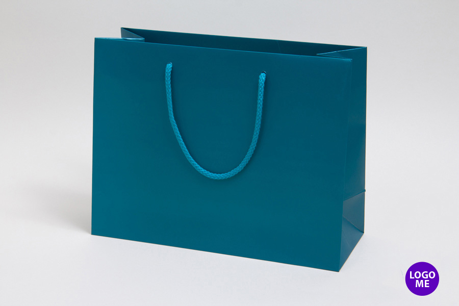 13 x 5 x 10 MATTE CARIBBEAN BLUE EUROTOTE SHOPPING BAGS ***LIMITED AVAILABILITY***