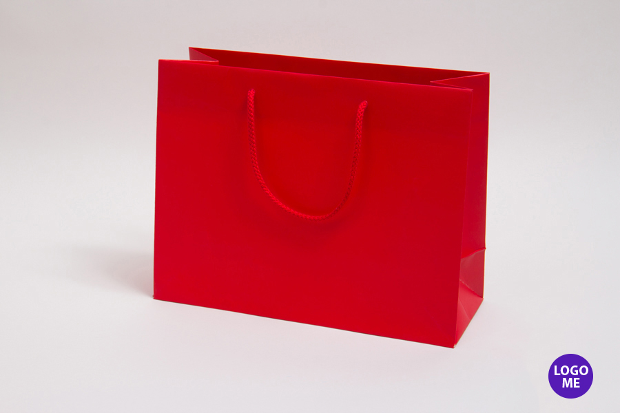 13 x 5 x 10 MATTE RED PAPER EUROTOTE SHOPPING BAGS