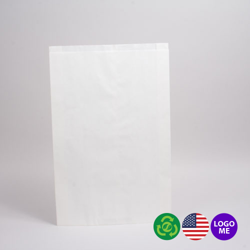 12 x 15 WHITE PAPER MERCHANDISE BAGS
