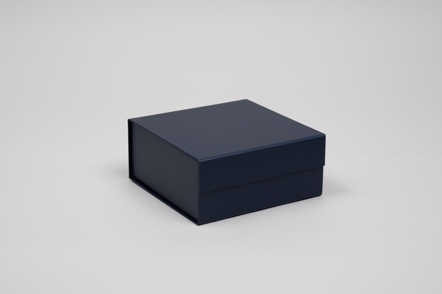 6 x 6 x 2-3/4 MATTE NAVY MAGNETIC LID GIFT BOXES