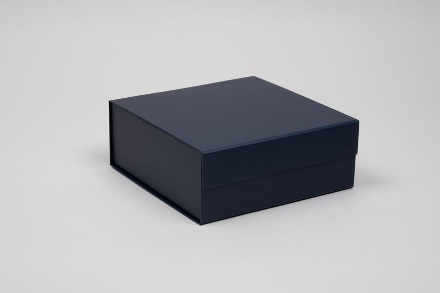 8 x 8 x 3-1/8 MATTE NAVY MAGNETIC LID GIFT BOXES