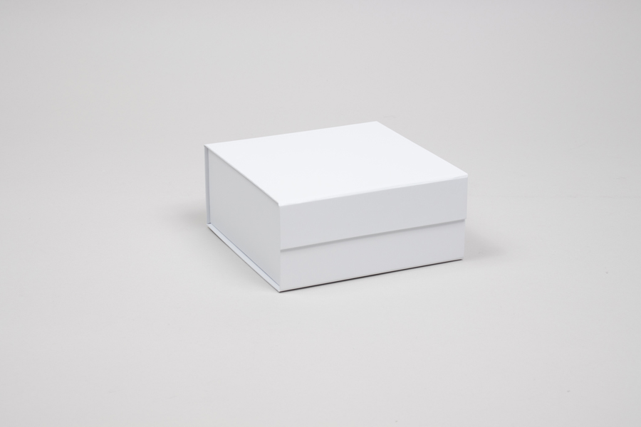 6 x 6 x 2-3/4 MATTE WHITE MAGNETIC LID GIFT BOXES