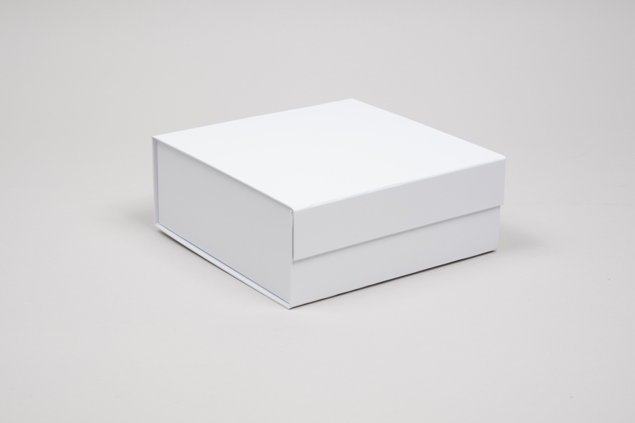 8 x 8 x 3-1/8 MATTE WHITE MAGNETIC LID GIFT BOXES