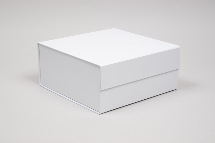 10 x 10 x 4-1/2 MATTE WHITE MAGNETIC LID GIFT BOXES