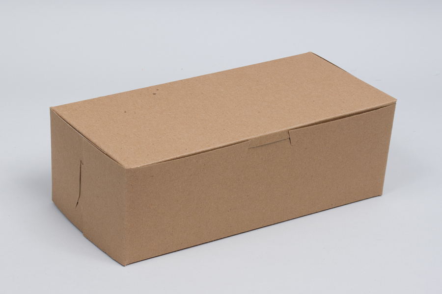 6-1/4 x 3-3/4 x 2-1/8 NATURAL KRAFT ONE-PIECE BAKERY BOXES
