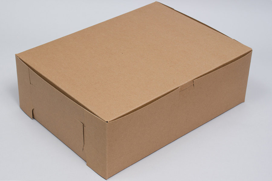 7 x 5 x 3 NATURAL KRAFT ONE-PIECE BAKERY BOXES