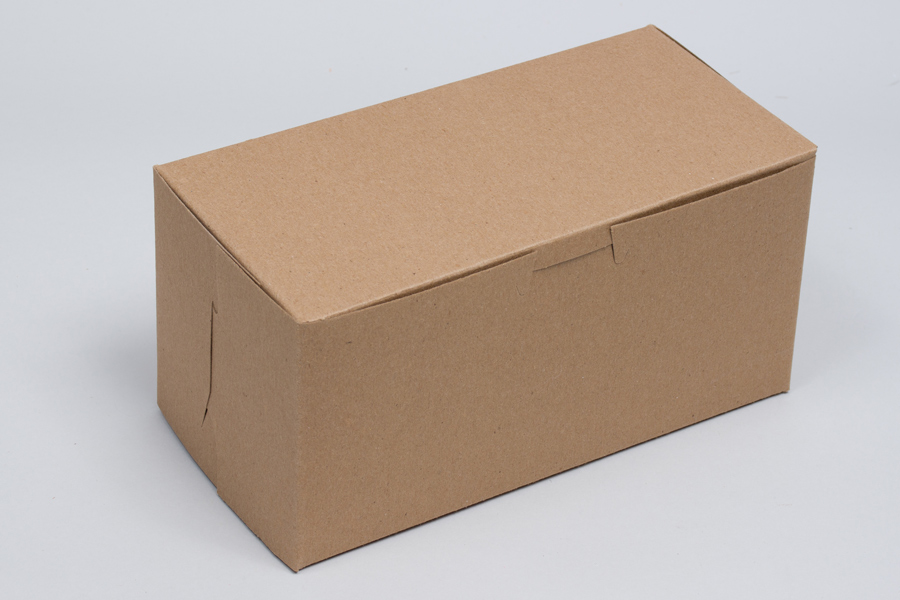 8 x 4 x 4 NATURAL KRAFT ONE-PIECE BAKERY BOXES