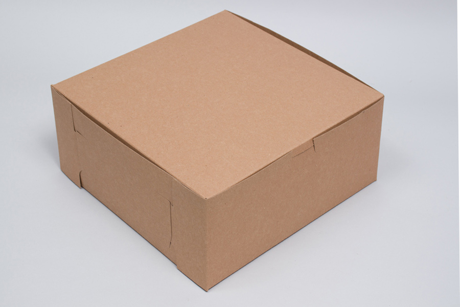 8 x 8 x 5 NATURAL KRAFT ONE-PIECE BAKERY BOXES