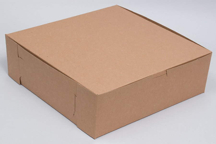 12 x 12 x 5 NATURAL KRAFT ONE-PIECE BAKERY BOXES
