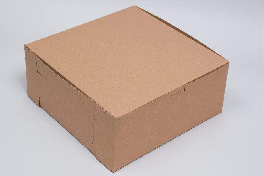 9 x 9 x 5 NATURAL KRAFT ONE-PIECE BAKERY BOXES