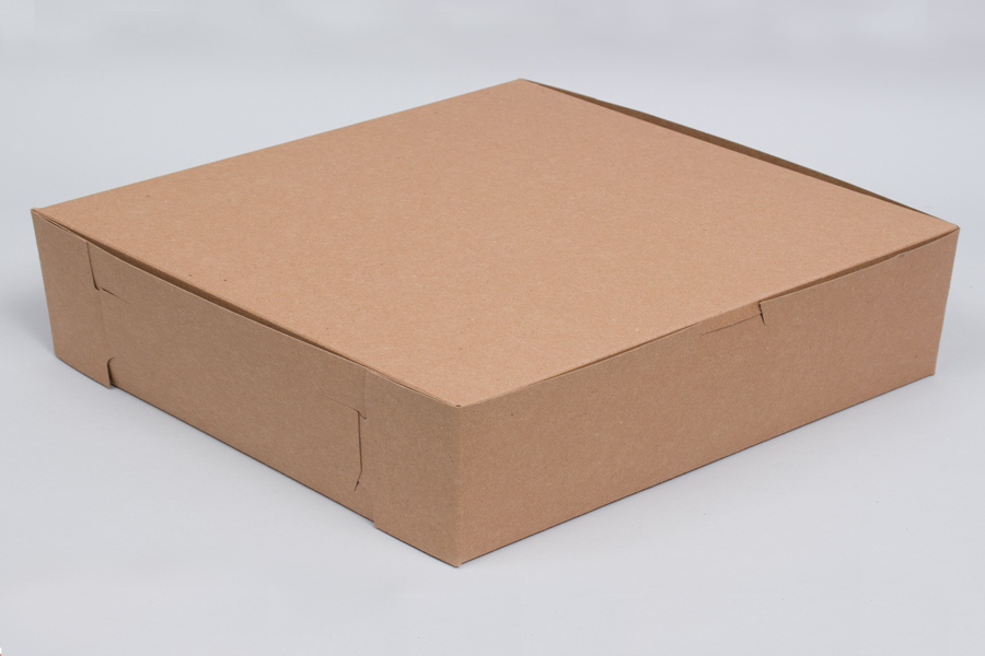 10 x 10 x 2.5 NATURAL KRAFT ONE-PIECE BAKERY BOXES