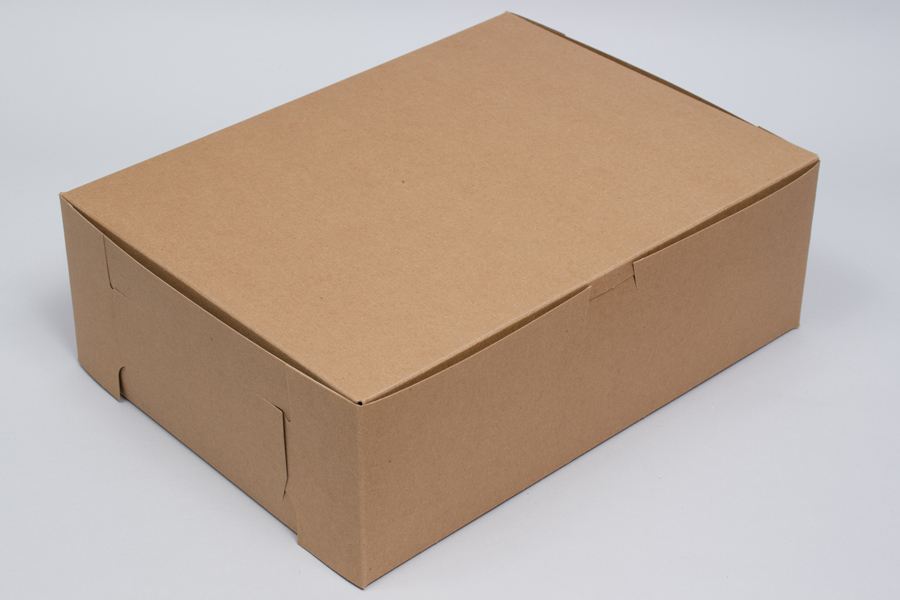 12 x 9 x 4 NATURAL KRAFT ONE-PIECE BAKERY BOXES