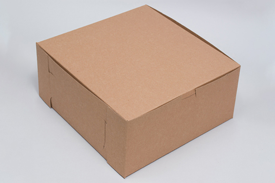 14 x 14 x 6 NATURAL KRAFT ONE-PIECE BAKERY BOXES