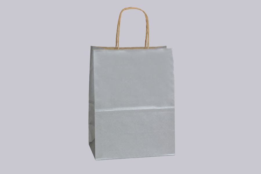 Matte Metallic Paper Shopping Bags