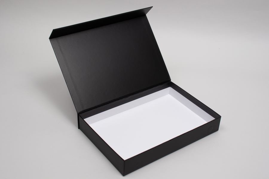 "10-13/16"" x 7-3/16"" x 1-9/16"" MATTE BLACK RIGID MAGNETIC LID GIFT BOXES"