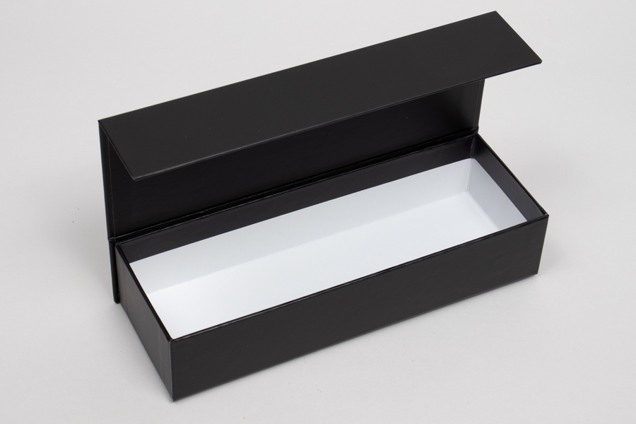 "8"" x 2-3/4"" x 1-5/8"" MATTE BLACK RIGID MAGNETIC LID GIFT BOXES"