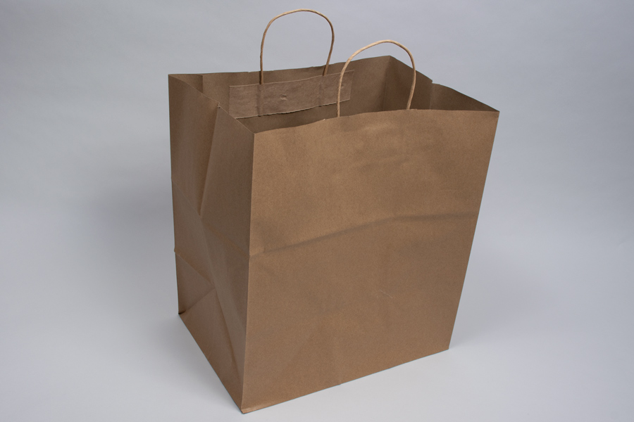 14 x 10 x 15.75 ECONOMY NATURAL KRAFT PAPER SHOPPING BAGS