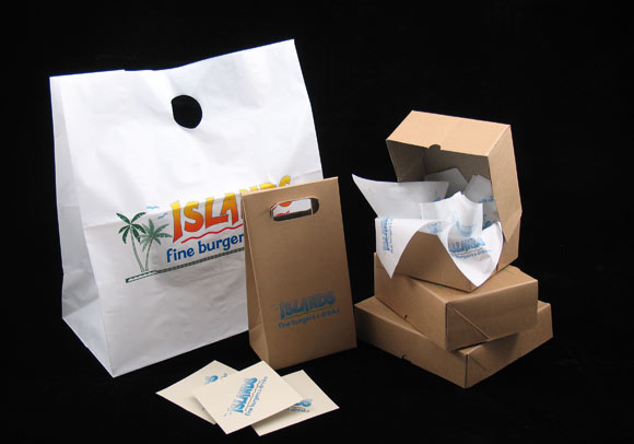 Printed Restaurant Bags Boxes Coasters Morgan Chaney