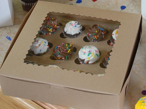MC - Paper Boxes - Bakery - Cup Cake Boxes - Kraft Window