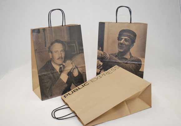 Printed Natural Kraft Paper Shopping Bags