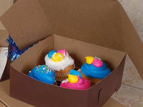 MC - Paper Boxes - Bakery - Cup Cake Boxes - Chocolate